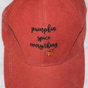 Corduroy Pumpkin Spice Everything Hat Cap $25 Fall